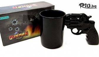 Голяма нестандартна чаша с дръжка пистолет, от Svito Shop