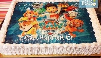 Голяма снимка! Торта 25 или 30 парчета, със снимка А3 и пълно покритие на тортата от Сладкарница Джорджо Джани!