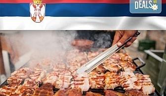 Голямо плато 880 г вкусна скара плюс шопска или зелена салата и порция пържени картофи със сирене от Сръбска скара Весна