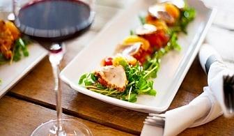 5 бр. хапки Тапас + чаша вино само за 4.90 лв. от ресторант El KuKu, Гео Милев, София