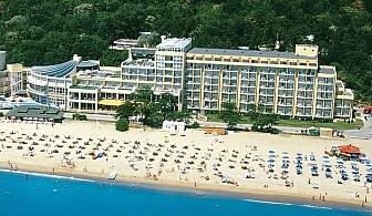 Хотел Grifid Encanto Beach предлага релаксираща атмосфера и спокойна почивка с частен плаж с невероятна гледка към хоризонта. Безплатни чадър, шезлонги и кърпи на плажа и на басейна на All Inclusive за 1 нощувка / 07.07.2017-25.08.2017
