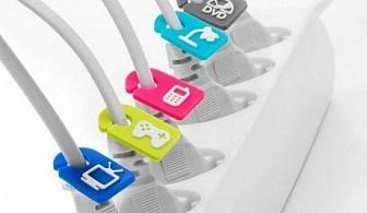 6 бр. идентификатори за кабели FOLDABITS