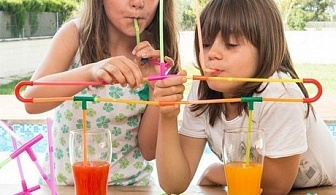Игра за пиене със сламки PLAYZ KIDZ (194 ЧАСТИ)