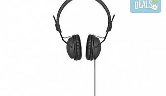 Изгодно и качествено! Подарете си леки и елегантни черни слушалки XQISIT!