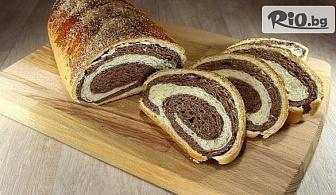 Изкушения за Великден! Козуначено руло с какао и канела или с мармалад и стафиди, от Пекарна Taste It