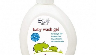 Измиващ бебешки гел за коса и тяло Event Baby