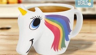 Изненадайте своето дете със сладка променяща цвета си 3D чаша с еднорог!