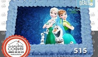 Изненадайте своя малчуган! Детски торти с картинки на любим герой и пълнеж по избор, надпис и кутия от Сладка София!