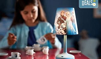 Изненадайте своя малчуган с преносима LED лампа на Philips с обичаните герои от анимацията на Disney Frozen!