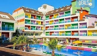 Изпратете лятото с почивка през септември в Blue Paradise Side Hotel & Spa 4*, Сиде, Турция! 7 нощувки на база All Inclusive, ползване на чадъри и шезлонги, турска баня!