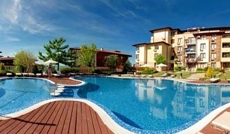 Късно лято в  хотел - апартаменти Райска Градина****! Наем на студио или апартамент + вътрешен и няколко външни басейна на метри от плажа!!!