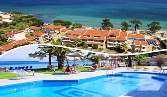 Късно лято в хотел Rachoni Bay Resort, о.Тасос - Гърция! Нощувка със закуска и вечеря + частен плаж и басейн с шезлонги и чадъри!