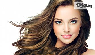 Кератинова терапия + изсушаване и оформяне на косата със сешоар, от Салон Angelica Beauty