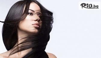 Кератинова терапия за коса KAY PRO + оформяне на прическа и изправяне със сешоар, от Студио за красота АНДИ
