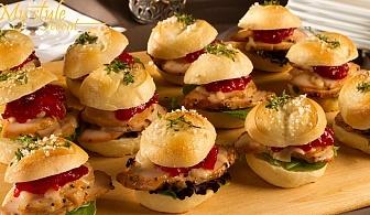 Кетъринг за вашето парти! Вкусни солени мини сандвичи от My Style Кетъринг