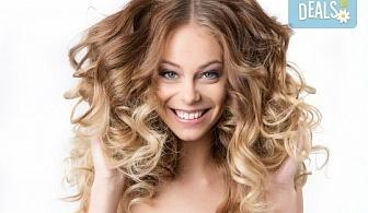 Кичури в стил омбре, терапия за защита на косата при обезцветяване и тониране в салон за красота Суетна!