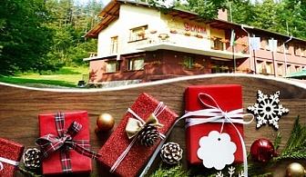 Коледа в Априлци! 3 нощувки на човек със закуски и 2 вечери + сауна само за 105 лв. в хотел Велена