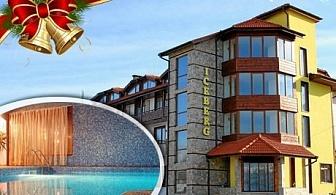 Коледа в Банско! 2 или 3 нощувки със закуски и празнична вечеря за ДВАМА + топъл басейн и релакс зона в хотел Айсберг***