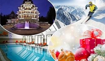 Коледа в хотел Феста Уинтър Палас*****, Боровец! 2 или 3 нощувки на човек със закуски и вечери и доплащане за празничен куверт + басейн и СПА