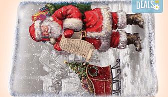 За Коледа и Нова година! Kоледна торта с какаови мъфини, шоколад и празнична снимка от Muffin House!