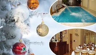 Коледа във Велинград! 3 или 4 нощувки за ДВАМА със закуски и вечери, две празнични + минерален басейн и парна баня в хотел Жери