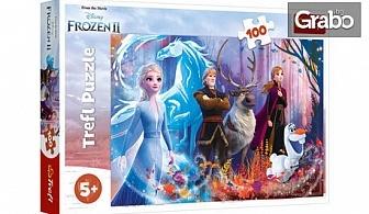"""Коледен подарък за децата! Пъзел """"Замръзналото кралство 2""""със 100 части"""