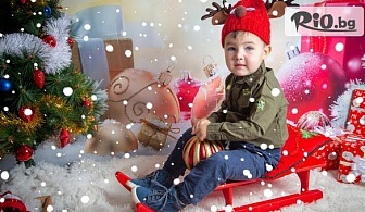 Коледна фотосесия в студио с всички обработени кадри + 10 със специални ефекти, 4 Коледни декора, множество аксесоари, от Arsov Image