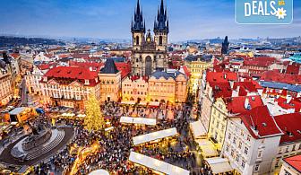 Коледна магия в Будапеща, Виена и Прага! 5 нощувки със закуски, транспорт, водач и възможност за посещение на Дрезден!