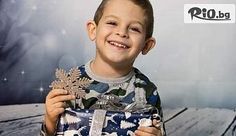 Коледна семейна фотосесия в студио с 15 обработени кадъра, от GS Photography