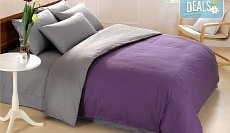 Комфорт и уют за цялото семейство! Ранфорс двулицево спално бельо в цвят и размери по избор от Спално бельо БГ и безплатна доставка за цяла София!