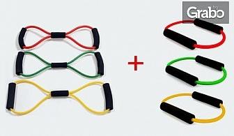 """Комплект """"Компакт Плюс""""с 6 висококачествени двупластови тренировъчни ластика"""