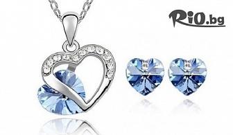 """Комплект """"Синя Валентина"""", """"Прима"""" или """"Прима в синьо"""" с кристали на Swarovski Elements, от Онлайн магазин за бижута Sibila Style"""