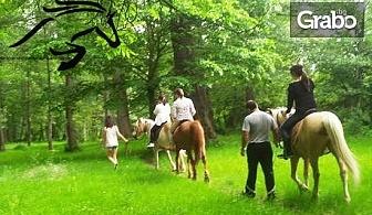 Конна езда в Долината на розите! Разходка или обучение за до петима, плюс фотозаснемане