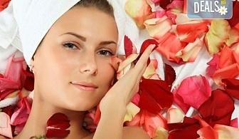 Красива и млада кожа с антиейдж терапия за лице с розово масло в салон за красота Престиж, Яворец!