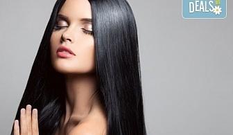 Красива от сутрин до вечер! Възстановяваща кератинова терапия за коса с преса, студио за красота Velesa