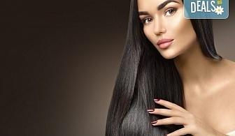Красиви коси! Боядисване на корени с италианска боя, измиване, прическа със сешоар и бонус: подстригване на връхчета в салон B BEAUTY!