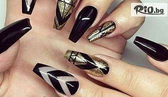 Красиви нокти! Ноктопластика с изграждане с UV Fiber gel + декорации /на адрес на клиента/, от Mobile Studio VABENE