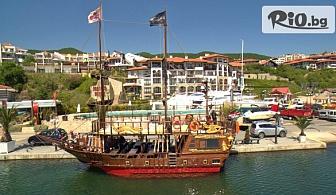 Круиз с пиратски кораб Black Sam /Вечерен или Дневен/ + обяд, напитки, анимация и възможност за гмуркане, от Ворик Груп