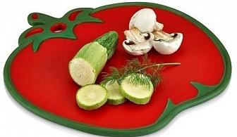 Кухненска дъска с форма на домат