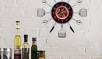 Кухненски часовник с прибори