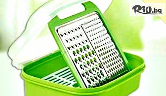 Кухненско ренде с кутия за съхранение - помощник в кухнята, от Hipo.bg