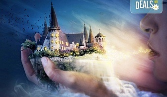"""Куклен театър на 09.12. от 13:00ч. в замъка """"Влюбен във вятъра"""" в Равадиново, сувенир, бутилка минерална вода и разходка из комплекса - за двама човека или 4-членно семейство"""
