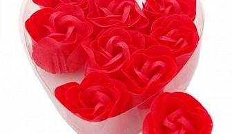 Кутийка сърце с 9 ароматизирани розички