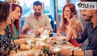 Куверт за 4 или 6 човека с 3-степенно меню от салата, основно ястие и десерт, от Central-place в центъра на Пловдив