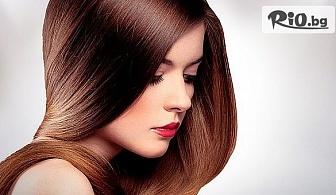 Ламиниране на коса с продуктите на ESTEL или Davines + оформяне, от Салон за красота Омая