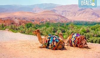 Last minute! От 10.04. до 17.04. в Мароко - самолетен билет и летищни такси, 7 нощувки със закуски и вечери в Маракеш и Агадир и водач