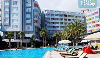 Last minute! Почивка от 24.05. в Алания, Турция! 7 нощувки на база Ultra All Inclusive в Meridia Beach Hotel 5*, транспорт, представител от ТА!