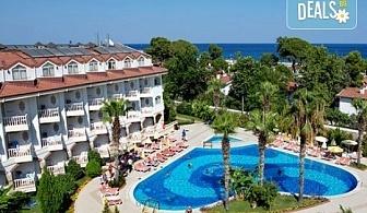 Last minute! Почивка в Кемер, Турция - 7 нощувки All Inclusive в хотел Larissa Sultan's Beach Hotel 4*, директен чартърен полет, летищни такси, багаж, трансфери