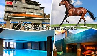 Лукс, басейн и релакс в Банско! 3 или 5 нощувки на база All Inclusive + 2 или 5 урока по конна езда в Хотел Ривърсайд****