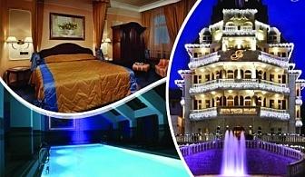 Лукс в Боровец! Нощувка на човек със закуска и вечеря + чаша бира или вино + басейн и релакс зона от хотел Феста Уинтър Палас 5*